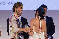 Spanish queen Letizia and spanish designer María Ke Fisherman during delivery spanish fashion national awards 2016 in the Museum of Costume in Madrid. July 21, 2016. (ALTERPHOTOS/Rodrigo Jimenez) /NORTEPHOTO.COM