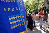 Roma, 17 Aprile 2011Quadraro 67° anniversarioDeposizione di corone in Largo dei Quintili e nel parco 17 Aprile per ricordare il rastrellamento del 17 Aprile 1944 e la deportazione di  947 uomini da parte dei nazifascisti