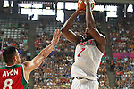 06.09.2014. Barcelona, Spain. 2014 FIBA Basketball World Cup, round of 16. Picture show K. Faried   in action during game between  Mexico v Usa  at Palau St. Jordi