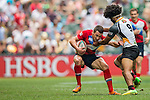 Papua New Guinea vs Russia during the HSBC Sevens Wold Series Qualifier Semi Finals match as part of the Cathay Pacific / HSBC Hong Kong Sevens at the Hong Kong Stadium on 29 March 2015 in Hong Kong, China. Photo by Xaume Olleros / Power Sport Images