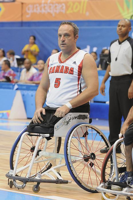 November 18 2011 - Guadalajara, Mexico:  Yvon Rouillard of Team Canada  in the CODE Alcalde Sports Complex at the 2011 Parapan American Games in Guadalajara, Mexico.  Photos: Matthew Murnaghan/Canadian Paralympic Committee
