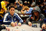 After a re-draw at 16 players, both females in the field, Vanessa Selbst and Vanessa Rousso end up next to each other.