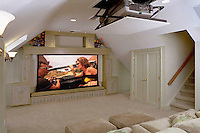 Invisible Media Room With Black Out Shades