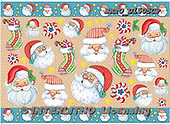 Alfredo, DECOUPAGE, Christmas Santa, Snowman, paintings, BRTOD1505CP,#DP#,#X# Weihnachten, Navidad, illustrations, pinturas