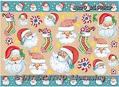 Alfredo, DECOUPAGE, Christmas Santa, Snowman, paintings, BRTOD1505CP,#DP#,#X# Weihnachten, Navidad, illustrations, pinturas