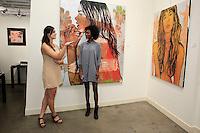 SANTA MONICA - JUN 25: Madison McRonald, Milan Dixon at the David Bromley LA Women Art Exhibition opening reception at the Andrew Weiss Gallery on June 25, 2016 in Santa Monica, California