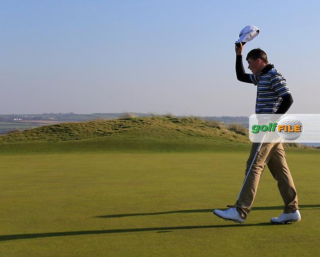 Jordan Logue (Hilton Templepatrick) winner  the Ulster U16 Close Championship 2015, Portstewart Golf Club, Portstewart, Co Londonderry, Ireland.<br /> Picture: Fran Caffrey / Golffile