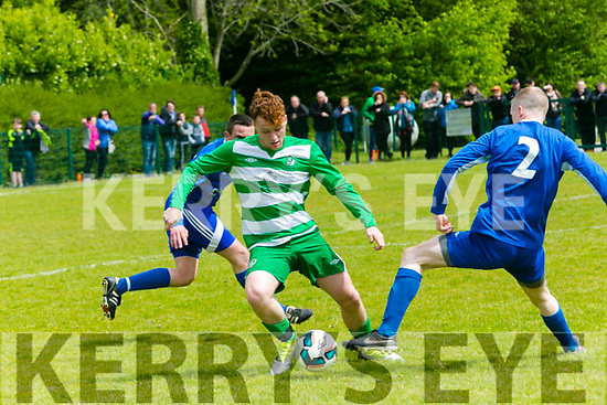 In Action Celtic's Steve McCarthy in the Killarney Athletic v Killarney Celtic at Woodlawn Killarney on Sunday