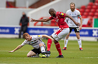 7th July 2020; City Ground, Nottinghamshire, Midlands, England; English Championship Football, Nottingham Forest versus Fulham; Harrison Reed of Fulham and Samba Sow of Notts Forest contest the ball