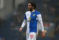 Oldham Athletic's Johnny Placide and Blackburn Rovers' Derrick Williams<br /> <br /> Photographer Stephen White/CameraSport<br /> <br /> The EFL Sky Bet League One - Blackburn Rovers v Oldham Athletic - Saturday 10th February 2018 - Ewood Park - Blackburn<br /> <br /> World Copyright &copy; 2018 CameraSport. All rights reserved. 43 Linden Ave. Countesthorpe. Leicester. England. LE8 5PG - Tel: +44 (0) 116 277 4147 - admin@camerasport.com - www.camerasport.com