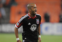D.C. United forward Maicon Santos (29) celebrates his score in the 72th minute of the game. D.C. United tied The Montreal Impact 1-1, at RFK Stadium, Wednesday April 18 , 2012.