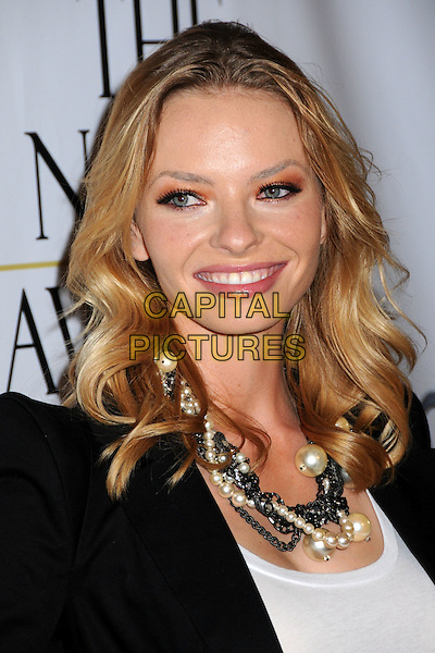 "KATHERINE BOECHER .1st Annual ""Noble Humanitarian Awards"" held at the Beverly Hilton Hotel,  Beverly Hills, California, USA..October 18th, 2009.headshot portrait black white pearl necklace.CAP/ADM/BP.©Byron Purvis/AdMedia/Capital Pictures."