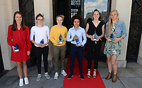 20190512 – OOSTENDE , BELGIUM : Charlotte Laridon - top goalscorer in 1e nationale -  , Tinne Van Den Bergh - top goalscorer in 2e nationale A - ,  Elena Dhont - Beste belofte - ,  Kassandra Missipo - winner of the Sparkle - , Lisa Lichtfus - best goalkeeper - and Ella Van Kerkhoven - top goalscorer Superleague -  pictured during the 5th edition of the Sparkle award ceremony , Sunday 12 May 2019 , in Oostende . The Sparkle  is an award for the best female soccer player during the season 2018-2019 comparable to the Golden Shoe or Boot / Gouden Schoen / Soulier D'or for Men in Belgium . PHOTO SPORTPIX.BE | DAVID CATRY