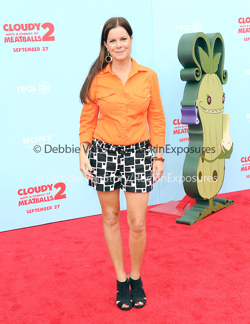 """Marcia Gay Harden at Sony Pictures Animation Los Angeles Premiere Of """"Cloudy With A Chance Of Meatballs 2"""" held at The Regency Village Theatre in Westwood, California on September 21,2013                                                                   Copyright 2013 Hollywood Press Agency"""