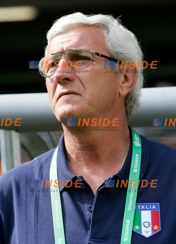 Kaiserslautern 26/6/2006 World Cup 2006 Ottavi di finale Italia Australia 1-0.Photo Andrea Staccioli Insidefoto.Italy trainer Marcello Lippi.L'allenatore italiano Marcello Lippi.