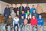 U/16 Presentation : The St Senan's U/16 team that won the North Kerry League Div II pictured with All-Ireland medalist & All Star Darragh O'Shea who presented them with their medals on Friday evening last in Sports hall in Mountcoal...Front :Adrian O'Mahony, Sean T Dillon, Eoghan O'Connell, Alan Kelly, Alan Kennelly & David Foran...Middle:Paudie Quille, Chris McKenna, David Behan, Michael Keane & Mark Behan. ..Back:Mike Behan, Tom McElligott, Timmy O'Sullivan Darragh O'Se, James Barry, Joseph O'Carroll & Colm Whelan.