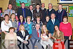 Tom and Eileen Mulreid, from, Lissahane, Listowel with baby Joanna at her christening party in McCarthy's bar, Finuge on Saturday.  Pictured front l-r. Bridie Boyle, Laura Whiston (godparent), Tom and Eileen Mulrein with baby Joanna, Norita Devane (godparent). Middle l-r Frances Key's Madilen McNamara, Kathy Quaid, Eileen O'Sullivan, Mai Lynch, Peggy Devane, James Devane(grandfather), Dora O'Connor.  Back l-r ray key's, Joe O'Sullivan, Jack Riddel, Denis O'Neill, John Quaid, John Devane and Tommy Boyle..