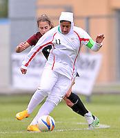 Monfalcone, Italy, April 26, 2016.<br /> Iran's captain #11 Geraeili controls the ball during USA v Iran football match at Gradisca Tournament of Nations (women's tournament). Monfalcone's stadium.<br /> &copy; ph Simone Ferraro / Isiphotos