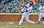 11 April 2012: New York Mets outfielder Lucas Duda at bat during game action against the Washington Nationals at Citi Field in Flushing, New York. The Nationals shut out the Mets 4-0 to take the rubber match of their 3-game series. Mandatory Credit: Ed Wolfstein Photo