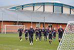 Rangers squad arrive for training