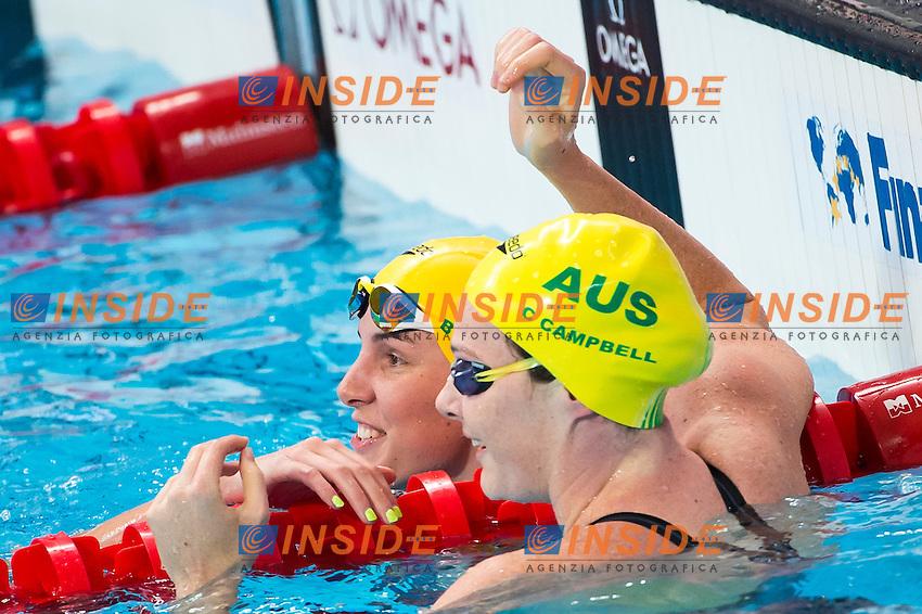 CAMPBELL Cate and CAMPBELL Bronte AUS<br /> Swimming - Women's  100m freestyle heats<br /> Day 14 06/08/2015<br /> XVI FINA World Championships Aquatics Swimming<br /> Kazan Tatarstan RUS July 24 - Aug. 9 2015 <br /> Photo Giorgio Perottino/Deepbluemedia/Insidefoto