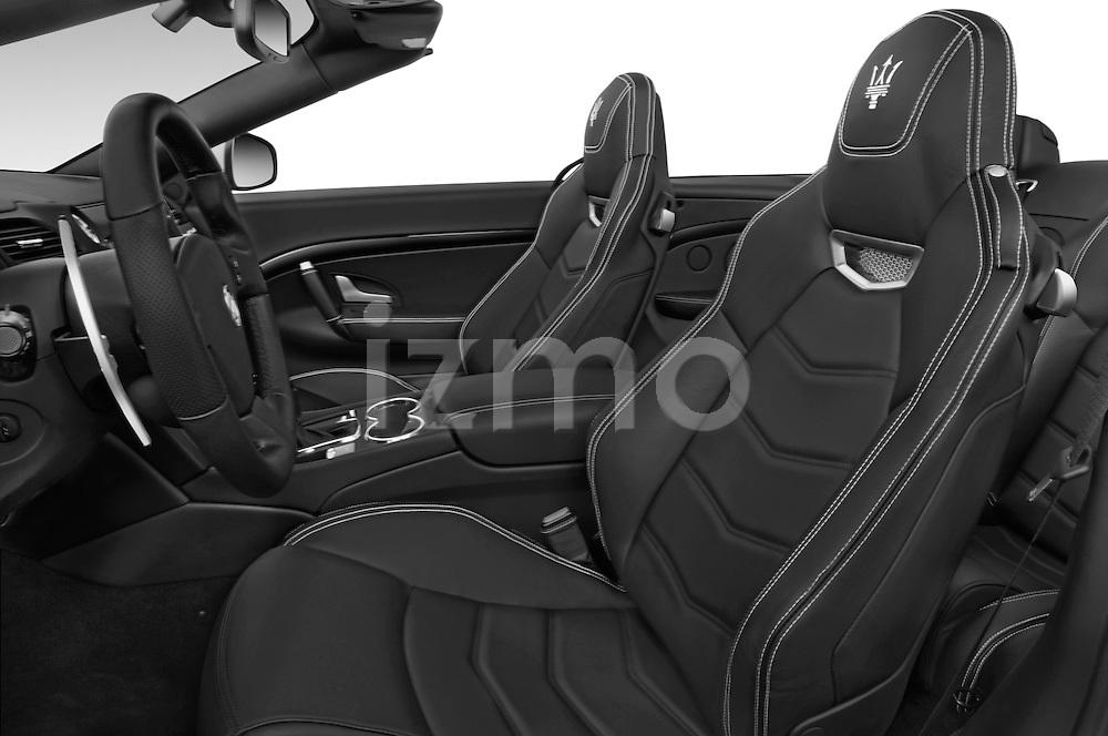 Front seat view of a 2014 Maserati GranTurismo Convertible Sport Door convertible Front Seat car photos
