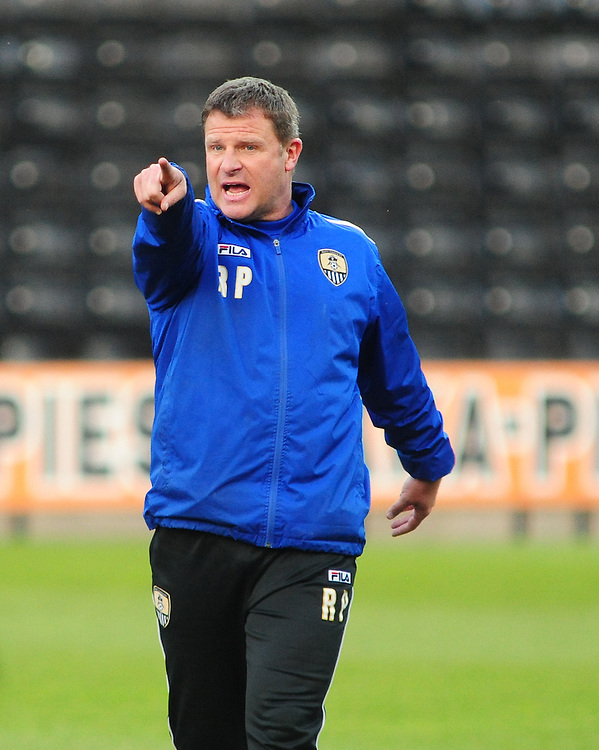 Notts County Ladies' Manager Rick Passmoor during the pre-match warm-up <br /> <br /> Photo by Chris Vaughan/CameraSport<br /> <br /> Women's Football - FA Women&rsquo;s Super League 1 - Notts County Ladies v Arsenal Ladies - Wednesday 16th April 2014 - Meadow Lane - Nottingham<br /> <br /> &copy; CameraSport - 43 Linden Ave. Countesthorpe. Leicester. England. LE8 5PG - Tel: +44 (0) 116 277 4147 - admin@camerasport.com - www.camerasport.com