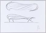 Drawing, Preparatory Sketch for Enignum Free Form Chair, ca. 2012; Designed by Joseph Walsh (Irish, b. 1979); Graphite on white wove paper; 29.5 × 41.9 cm (11 5/8 × 16 1/2 in.); Gift of Joseph Walsh, 2015-39-4; Photo:   Matt Flynn © Smithsonian Institution