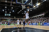 GB's Devan Bailey scores during the EuroBasket 2015 2nd Qualifying Round Great Britain v Bosnia & Herzegovina (Euro Basket 2nd Qualifying Round) at Copper Box Arena in London. - 13/08/2014