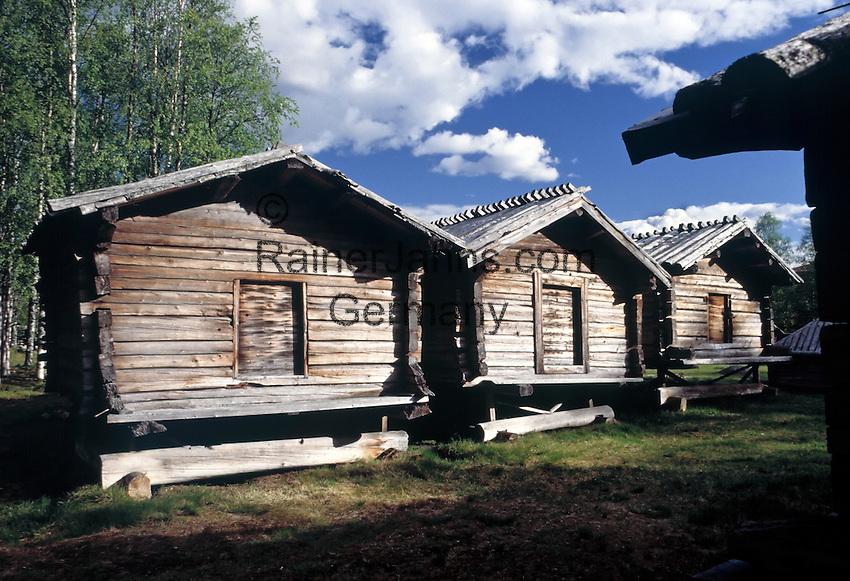 Sweden, Lappland, Arvidsjaur: open-air museum Lappstaden | Schweden, Lappland, Arvidsjaur: Freilichtmuseum Lappstaden