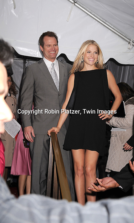 Heroes cast, Jack Coleman and Ali Larter..posing for photographers at The NBC Universal Experience of their Fall 2008-2009 schedule on May 12, 2008 at Rockefeller Center. Stars from NBC, USA, Bravo, Scifi, Oxygen, Telemundo and mun2 were there. ....Robin Platzer, Twin Images