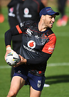 Simon Mannering.<br /> Vodafone Warriors training session. Mt Smart Stadium, Auckland, New Zealand. NRL Rugby League. Wednesday 23 May 2018 &copy; Copyright photo: Andrew Cornaga / www.photosport.nz