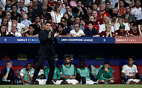 Tottenham Hotspur's coach Mauricio Pochettino encourages his players during the UEFA Champions League final football match between Tottenham Hotspur and Liverpool at Madrid's Wanda Metropolitano Stadium, Spain, June 1, 2019.<br /> UPDATE IMAGES PRESS/Isabella Bonotto