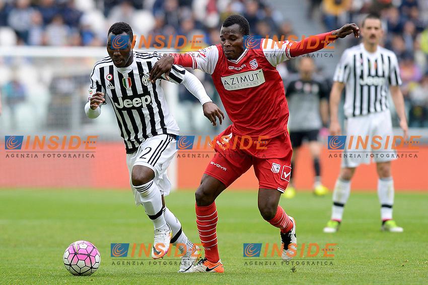 Kwadwo Asamoah Juventus, Isaac Cofie Carpi <br /> Torino 01-05-2016 Juventus Stadium Football Calcio Serie A 2015/2016 Juventus - Carpi. Foto Filippo Alfero / Insidefoto