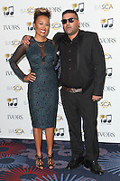 Emeli Sande and Naughty Boy arriving for the 59th Ivor Novello Awards, at the Grosvenor House Hotel, London. 22/05/2014 Picture by: Alexandra Glen / Featureflash