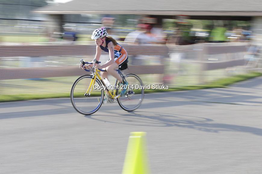 2014 Oregon Kids Triathlon Saturday, August 9, 2014, in Oregon, Wisconsin. (Photo by David Stluka)