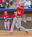 7 March 2015: St. Louis Cardinals infielder Scott Moore in Spring Training action against the Washington Nationals at Space Coast Stadium in Viera, Florida. The Cardinals fell to the Nationals 6-5 in Grapefruit League play. Mandatory Credit: Ed Wolfstein Photo *** RAW (NEF) Image File Available ***