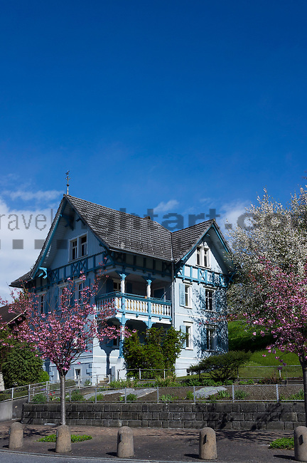 Altes Haus, old house, Eschen, Rheintal, Rhine-valley, Liechtenstein.