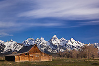 Moulton barn and Grand Tetons, Grand Tetons National Park, Wyoming