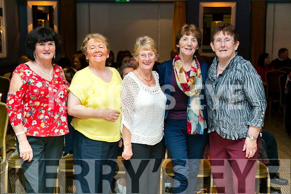 Teresa Lehane, Kitty Morrissy, Mary McCarthy, Bridie Sheehy and Kathleen McMullen at the John Mitchels GAA 'Strictly Come Dancing' at Ballygarry House Hotel on Sunday night.