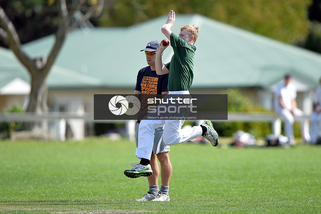 NELSON, NEW ZEALAND - March 26: College Grade Cricket at Greenmeadows on March 26 2016 in Stoke, Nelson, New Zealand. (Photos by Barry Whitnall/Shuttersport Limited)