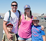 The Peterson family from Reno at the Air Races at the Reno-Stead Airfield on Sunday, Sept. 20, 2015.