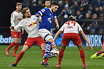 16.03.2019, VELTINS-Arena, Gelsenkirchen, GER, DFL, 1. BL, FC Schalke 04 vs RB Leipzig, DFL regulations prohibit any use of photographs as image sequences and/or quasi-video<br /> <br /> im Bild v. li. im Zweikampf Emil Forsberg (#10, RB Leipzig) Sutat Serdar (#8, FC Schalke 04) <br /> <br /> Foto © nph/Mauelshagen