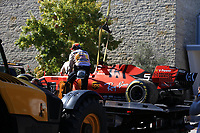 3rd November 2019; Circuit of the Americas, Austin, Texas, United States of America; Formula 1 United Sates Grand Prix, race day; Scuderia Ferrari, Sebastian Vettel car gets returned to the pits after retiring with broken rear suspension arms