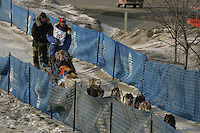 March 3, 2007.  Anchorage, Alaska.   On the ceremonial start day of the Iditarod Trail Sled Dog Race