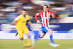Diego Roberto Godin Leal of Atletico de Madrid fights for the ball with David Garicia Santana of UD Las Palmas during their Copa del Rey 2016-17 Round of 16 match between Atletico de Madrid and UD Las Palmas at the Vicente Calderón Stadium on 10 January 2017 in Madrid, Spain. Photo by Diego Gonzalez Souto / Power Sport Images