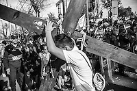 Crucifixion during holy week in Mexico