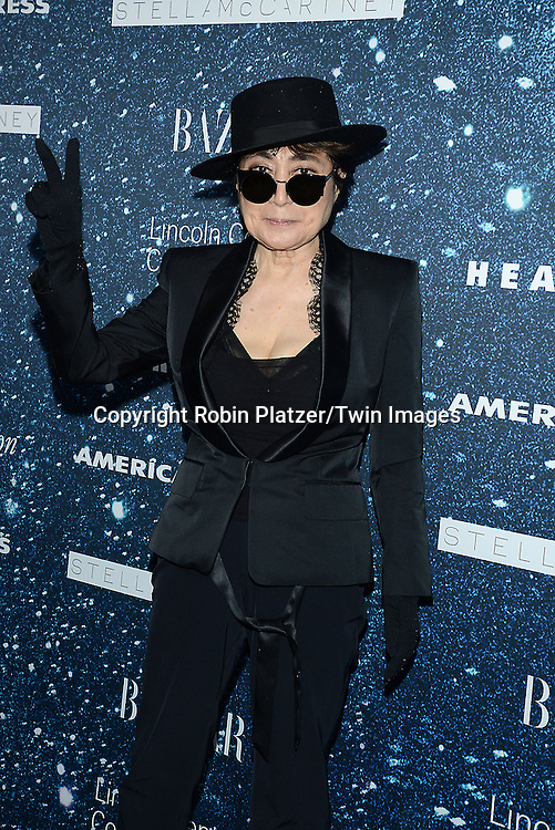 Yoko Ono attends the Stella McCartney Honored by Lincoln Center at Gala on November 13, 2014 at Alice Tully Hall in New York City, USA. She was given the Women's Leadership Award which was presented bythe LIncoln Center for the Performing Arts' Corporate Fund.<br /> <br /> photo by Robin Platzer/Twin Images<br />  <br /> phone number 212-935-0770