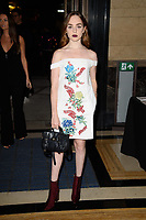 Louisa Connolly-Burnham<br /> front row at the Ashley Isham London Fashion Week SS18 catwalk show, London<br /> <br /> ©Ash Knotek  D3431  14/09/2018