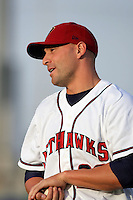 April 17, 2010: David Flores of the Lancaster JetHawks before game against the Rancho Cucamonga Quakes at Clear Channel Stadium in Lancaster,CA.  Photo by Larry Goren/Four Seam Images